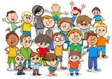 kid or teen cartoon boys characters group - 184297046