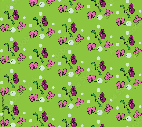 Floral Vector Pattern - 184298626
