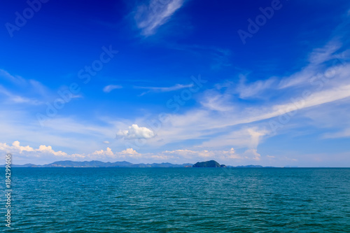 Foto op Canvas Donkerblauw Seascape with islands on a sunny day.