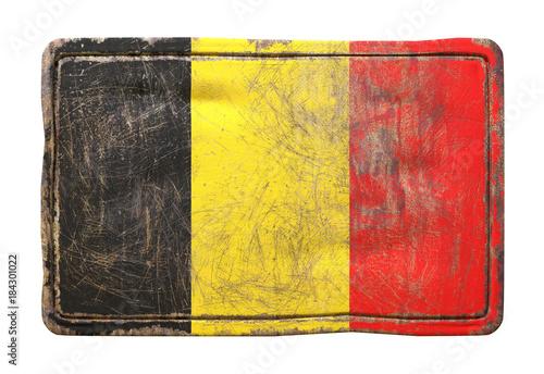 Fotobehang Brussel Old Belgium flag