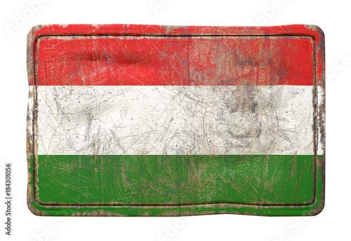 Foto op Canvas Boedapest Old Hungary flag