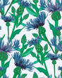 hand drawn floral seamless pattern - 184303457