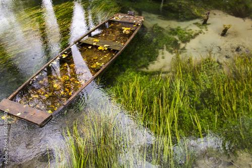 Plexiglas Schip Sunken boat