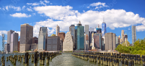 Staande foto New York Lower Manhattan skyline panorama view from Brooklyn, New York