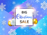 Design for seasonal Christmas sale