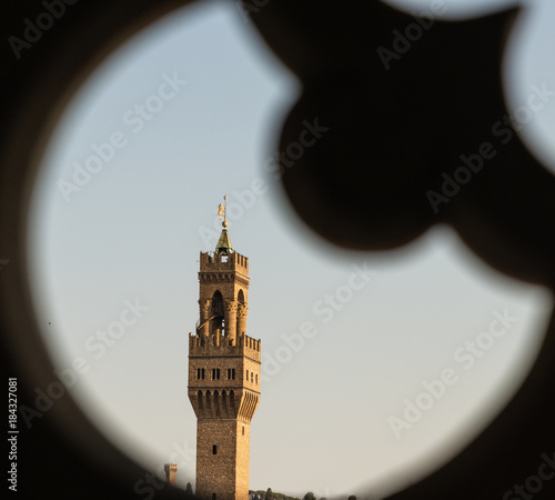 Tuinposter Florence Belltower in Florence, view from window of Santa Maria del Fiore