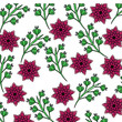 seamless wallpaper pattern with of collection dahlia flower leaves vector illustration - 184327465