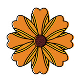 one flower natural floral decoration ornament vector illustration - 184328650