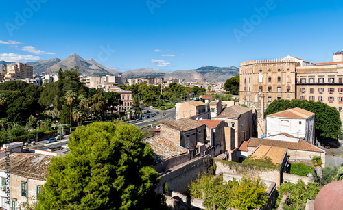 Keuken foto achterwand Palermo Top view of Palermo cityscape with Norman Palace, Sicily, Italy
