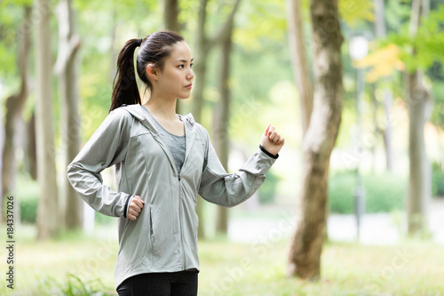 Deurstickers Jogging スポーティーな女性