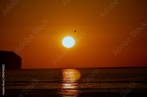 Poster Zee zonsondergang cielos