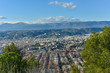 sights and architecture of the resort city of the azure coast of France Nice, top view - 184347240