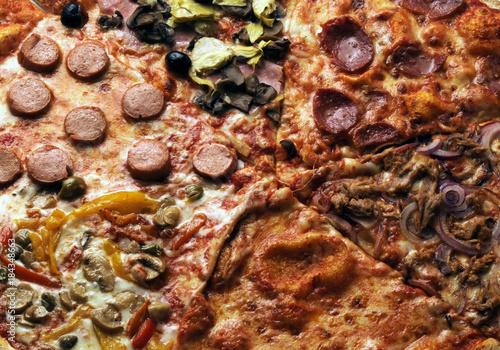 Deurstickers Pizzeria Pizza al taglio Пицца 比萨饼 피자 Πίτσα ピザ Pica Պիցցա Pitsa بيتزا พิซซ่า პიცა पिज़्ज़ा פיצה