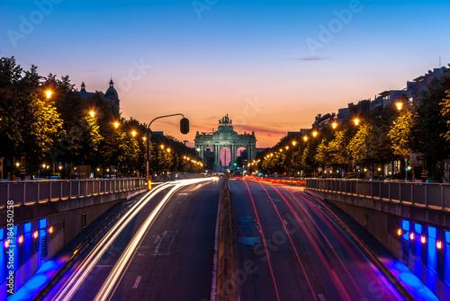 Foto Spatwand Brussel Arche du cinquantenaire depuis Tervuren