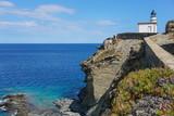 Spain Cadaques lighthouse Cala Nans on the Mediterranean coast, Costa Brava, Cap de Creus, Alt Emporda, Catalonia - 184354861