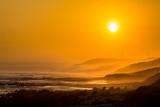 Beautiful Sunset with Large Round Sun