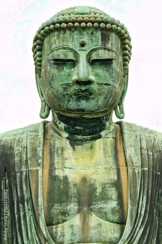 Foto op Aluminium Boeddha Kamakura Buddha on White