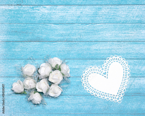 Romantic wedding background with small white flowers