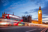 Big Ben with traffic jam in the evening, London, United Kingdom - 184392279
