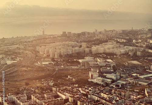View of Lisbon from a bird's eye view.