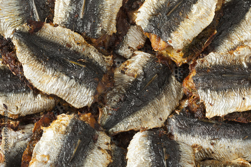 Staande foto Marokko Traditional Moroccan stuffed and fried sardines
