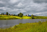 Panoramic view of the countryside of Russia