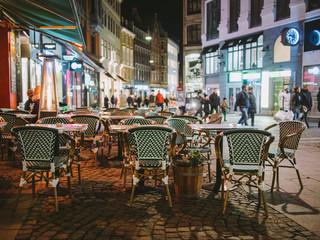 Streets of Copenhagen at night