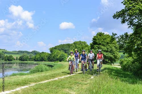 Radtour mit drei Generationen