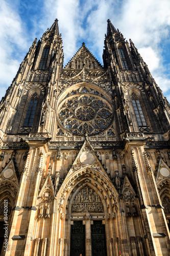 Fridge magnet  Cathédrale Saint-Guy de Prague Vieille ville (Stare Mesto), Prague, Bohême, République tchèque, Europe