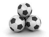 Pile of Soccer footballs. Image with clipping path - 184422451