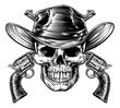 Cowboy Skull and Pistols