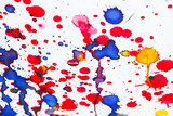 Colorful paint splashes artistic pattern - 184431422