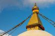 Quadro Boudhanath stupa, landmark of Kathmandu city, Nepal