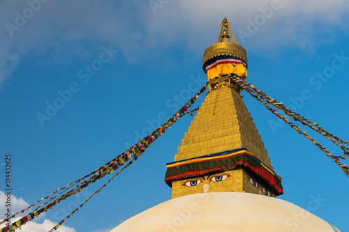 Foto op Aluminium Boeddha Boudhanath stupa, landmark of Kathmandu city, Nepal