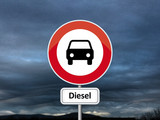 Dieselgate  - Road sign