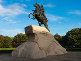 Bronze horseman - monument to Peter the great - 184460835