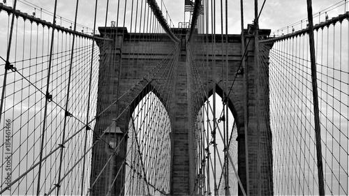 Deurstickers Brooklyn Bridge Brooklyn Bridge in Abstract