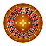 Realistic Detailed Wheel Luck Spinning Lucky Roulette Gambling Game in Casino. Vector illustration of Success Symbol. - 184465680