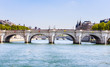 Island of the City. New bridge in Paris over the river Sena (Pont Neuf). Paris, France