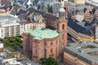a church in frankfurt germany from above