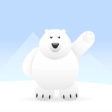 Cute Polar bear - 184478825
