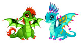 Baby dragons with cute eyes - 184478859