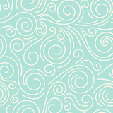 Abstract hand drawn doodle thin line wavy seamless pattern. Curly linear sky or sea messy background. Vector illustration. - 184479248