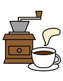 ミル、カップ、コーヒー、湯気(色) - 184483280