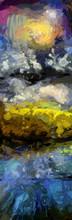 "Постер, картина, фотообои ""Abstract Digital Oil Painting. 3D rendering"""