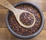 Seeds of black quinoa - Chenopodium quinoa - 184489642