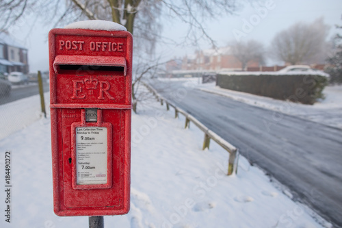 snowy post box