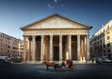 Pantheon, horse in the foreground, Rome, Italy - 184490847