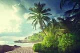 sunset on Seychelles beach - 184490881