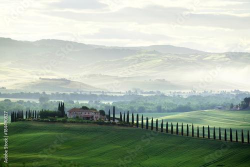 Fotobehang Toscane Tuscany countryside panorama, Italy